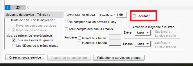 service facultatif
