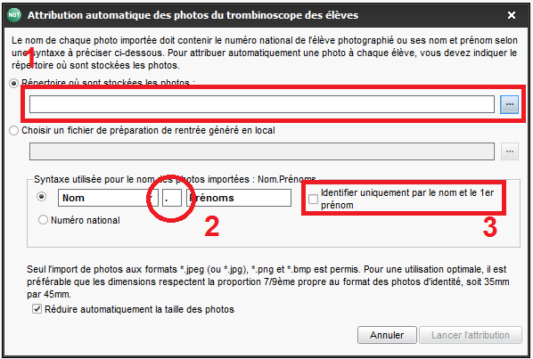 importation automatique de photos
